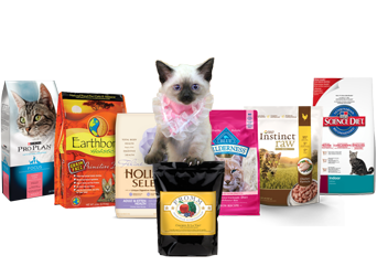 Cat Food Page with Product Images