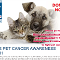community MAY IS PET CANCER AWARENESS MONTH