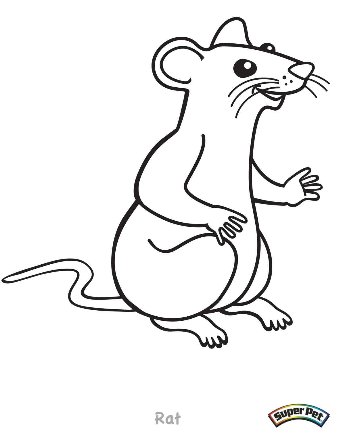 Critter coloring pages for Rat coloring pages